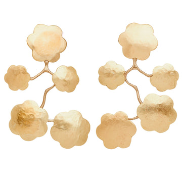 Julie Cohn Design Bronze Japonica Chandelier Earrings