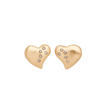 Julie Cohn Design Bronze Heart Earrings Gift