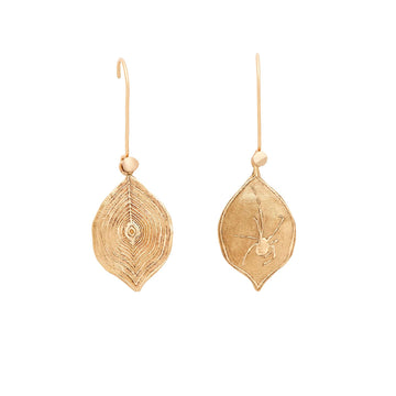 Julie Cohn Design Bronze Spider Web Charm Earrings Louise Bourgeois
