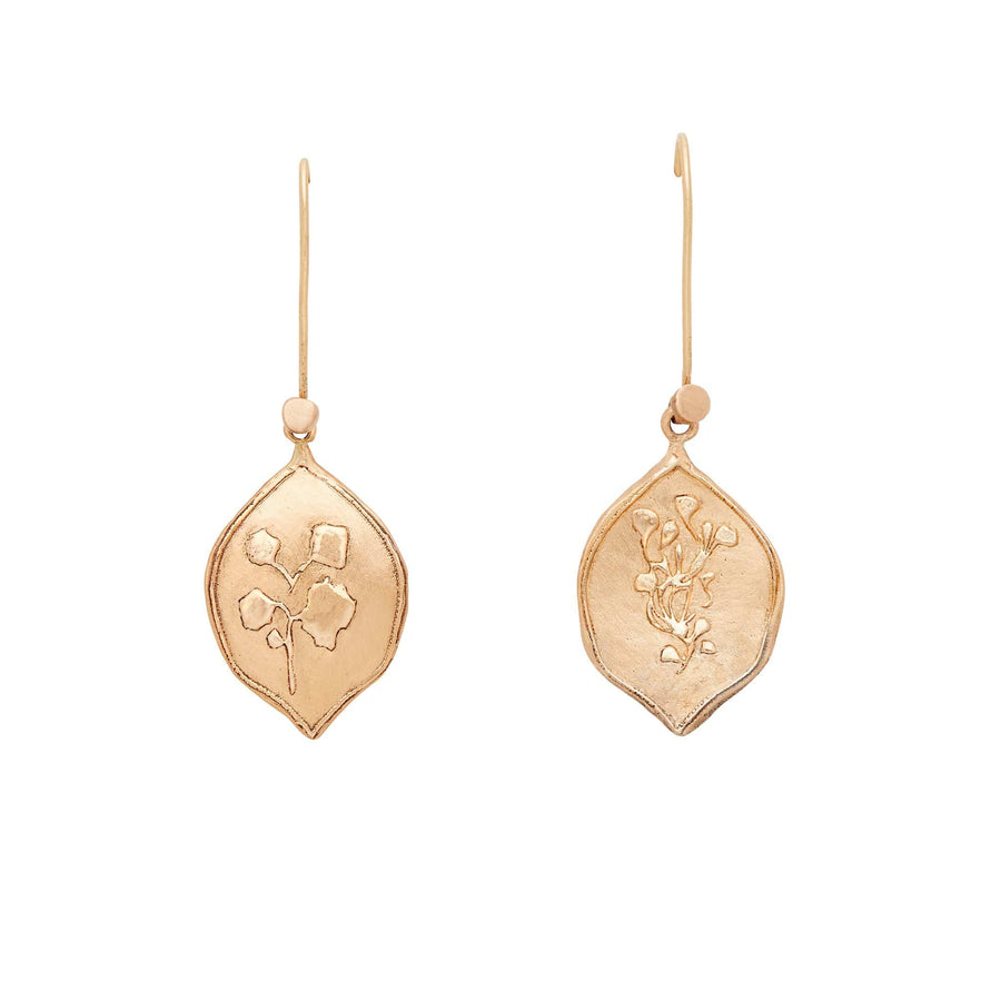 Julie Cohn Design Bronze Botanical Signet Charm Earring