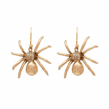 Julie Cohn Design Bronze Black Widow Spider Earring Louise Bourgeois