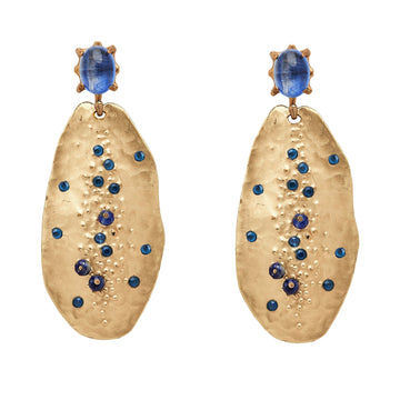 Julie Cohn Design Cypress Bronze Kyanite and Lapis Earrings