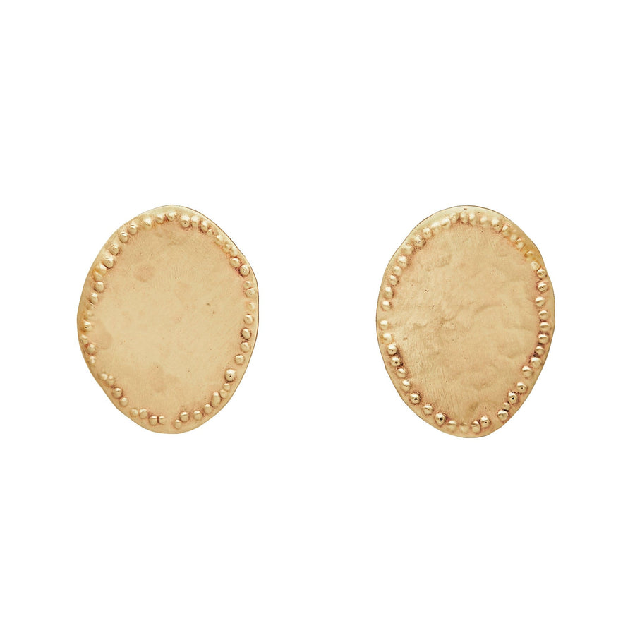 Julie Cohn Design Discus Bronze Earring