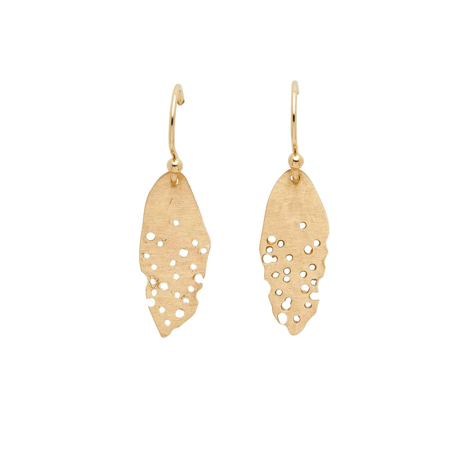 Julie Cohn Design Petite Leaf Bronze Earring