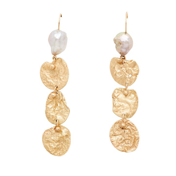 Julie Cohn Design Bronze Mojave Link with Pearl Earrings