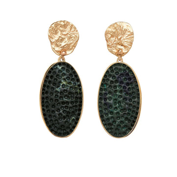 Julie Cohn Design Malachite Clay with Bronze Mojave Earring