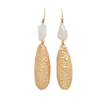 Julie Cohn Design Bronze Urchin Moonstone Earring