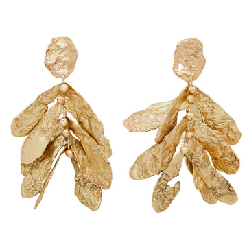 Julie Cohn Design Bronze Hand Fabricated Sycamore Earrings
