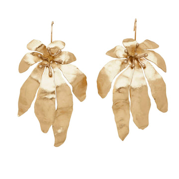 Julie Cohn Design Bronze Hand Fabricated Morning Flower Earrings