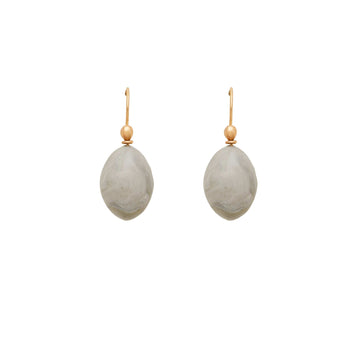 jewelry GRIGIO CLAY EGG EARRING JCE321 Julie Cohn Design Artisan Bronze Jewelry Handmade