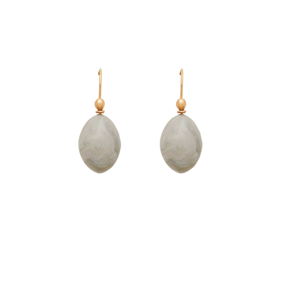 Julie Cohn Design Grigio Gray Clay Egg Earrings