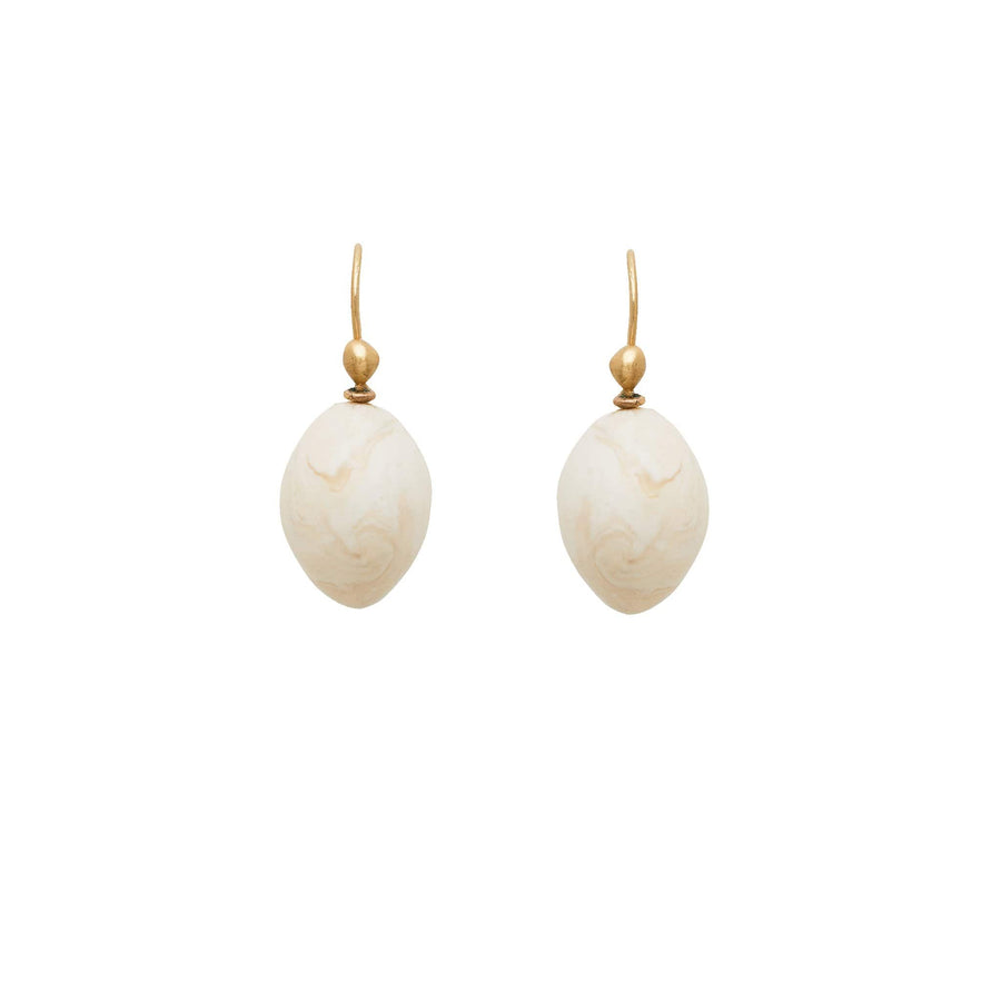 Julie Cohn Design Avorio Ivory Clay Egg Earring