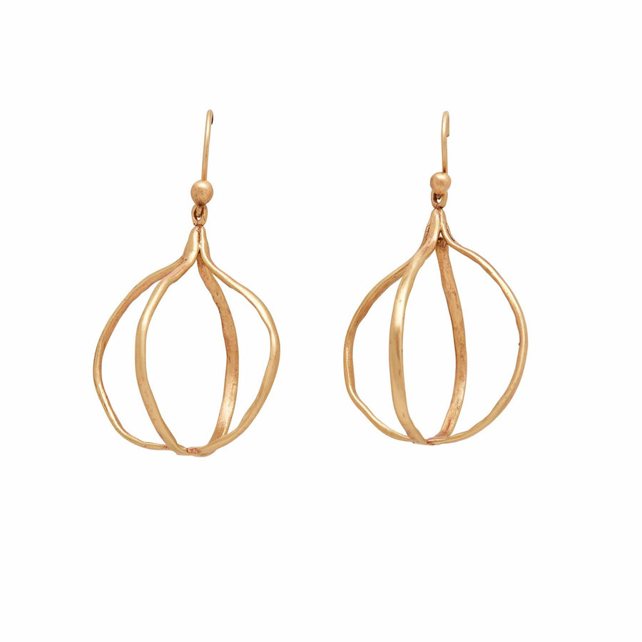 Julie Cohn Design Bronze Globe Earring