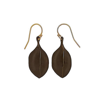 Black Amulet Bronze Earring Julie Cohn Design
