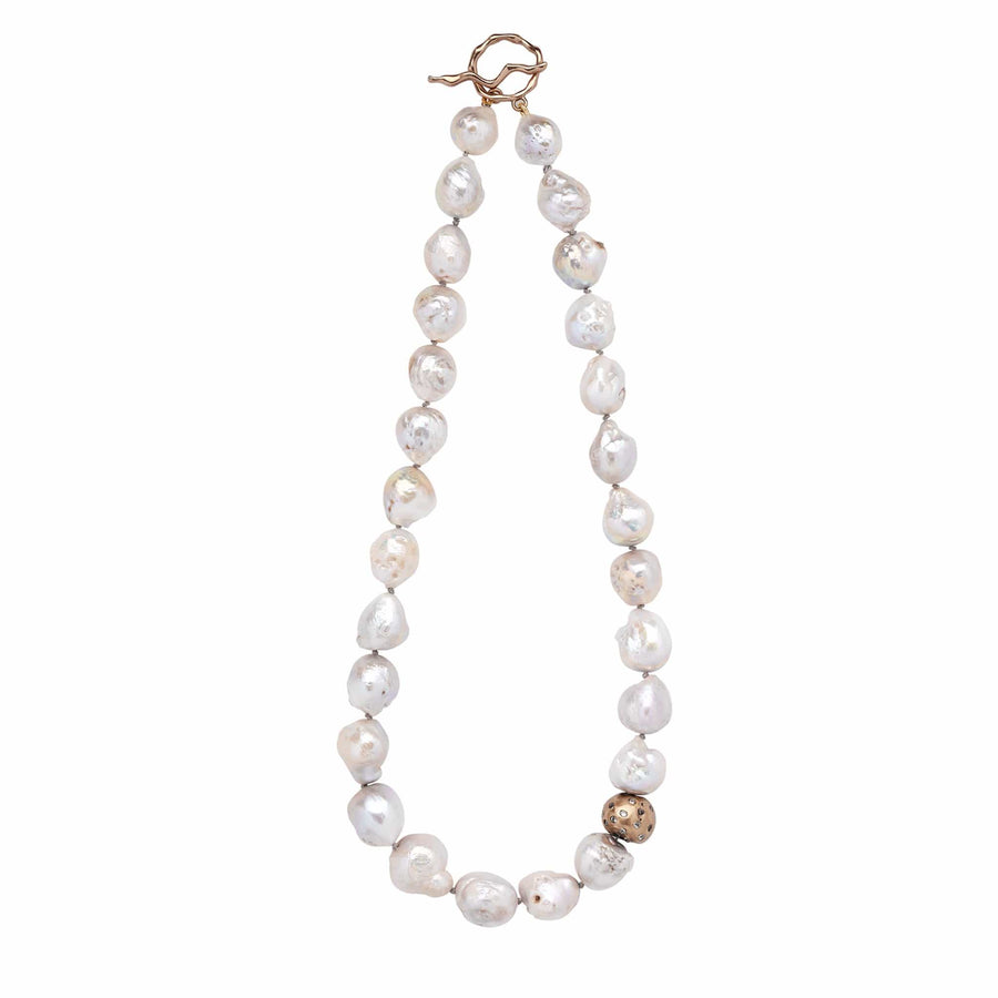 Julie Cohn Design Cloud Pearl Bronze Necklace