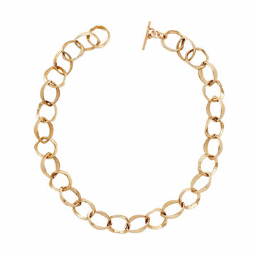 Julie Cohn Design Bronze Roman Chain Link Necklace