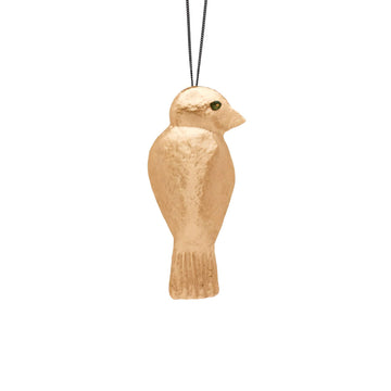Julie Cohn Design Hand Fabricated Bronze Goldfinch Pendant Necklace