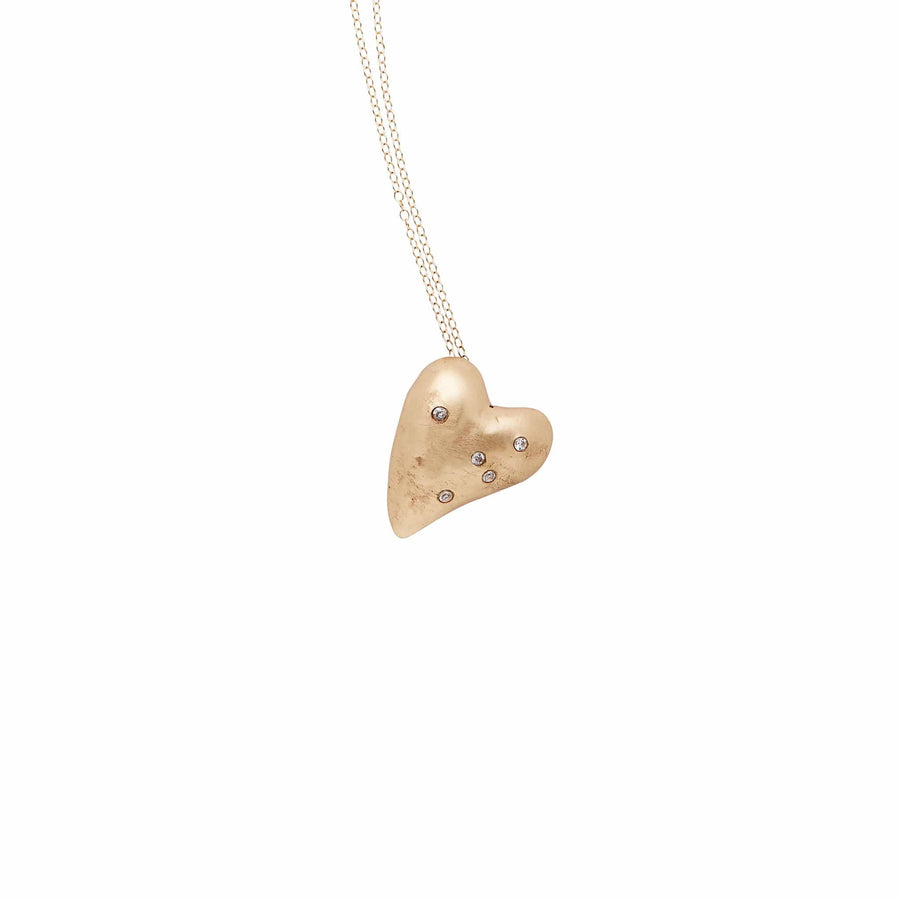 Julie Cohn Design Hand Fabricated Bronze Heart Pendant Necklace Gift