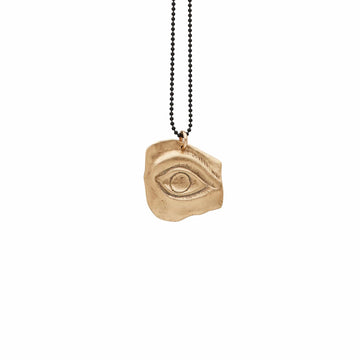 Julie Cohn Design Bronze Eye Shard Pendant Necklace Sterling Chain Charm