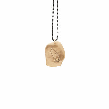 Julie Cohn Design Bronze Hand Shard Pendant Necklace Charm Sterling Chain