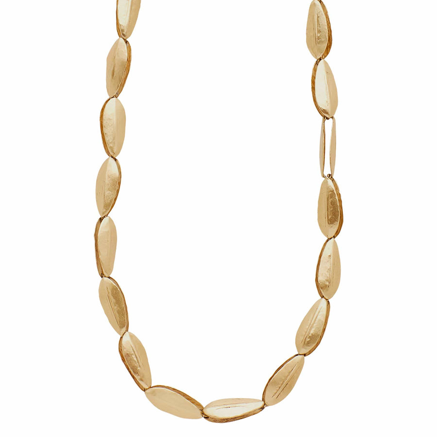 Julie Cohn Design Leaf Link Bronze Long Necklace