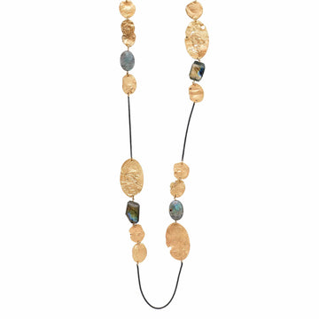 Julie Cohn Design Mojave Labradorite Bronze Chain Necklace