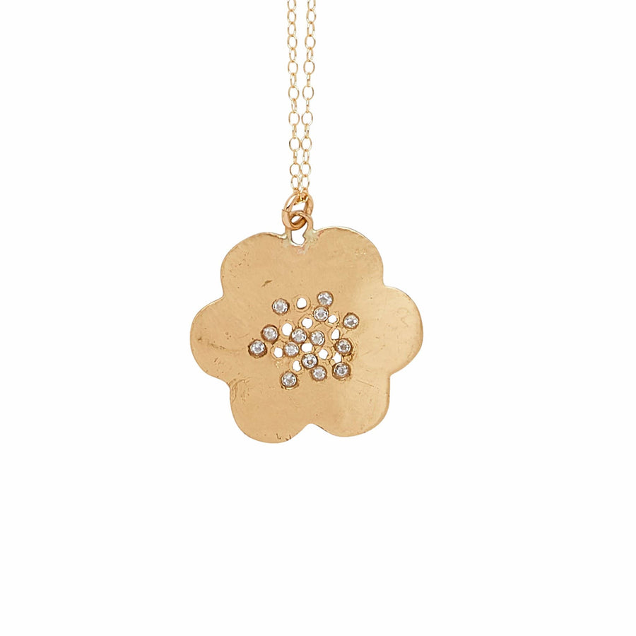 Julie Cohn Design Petite Japonica Bronze Pendant Necklace