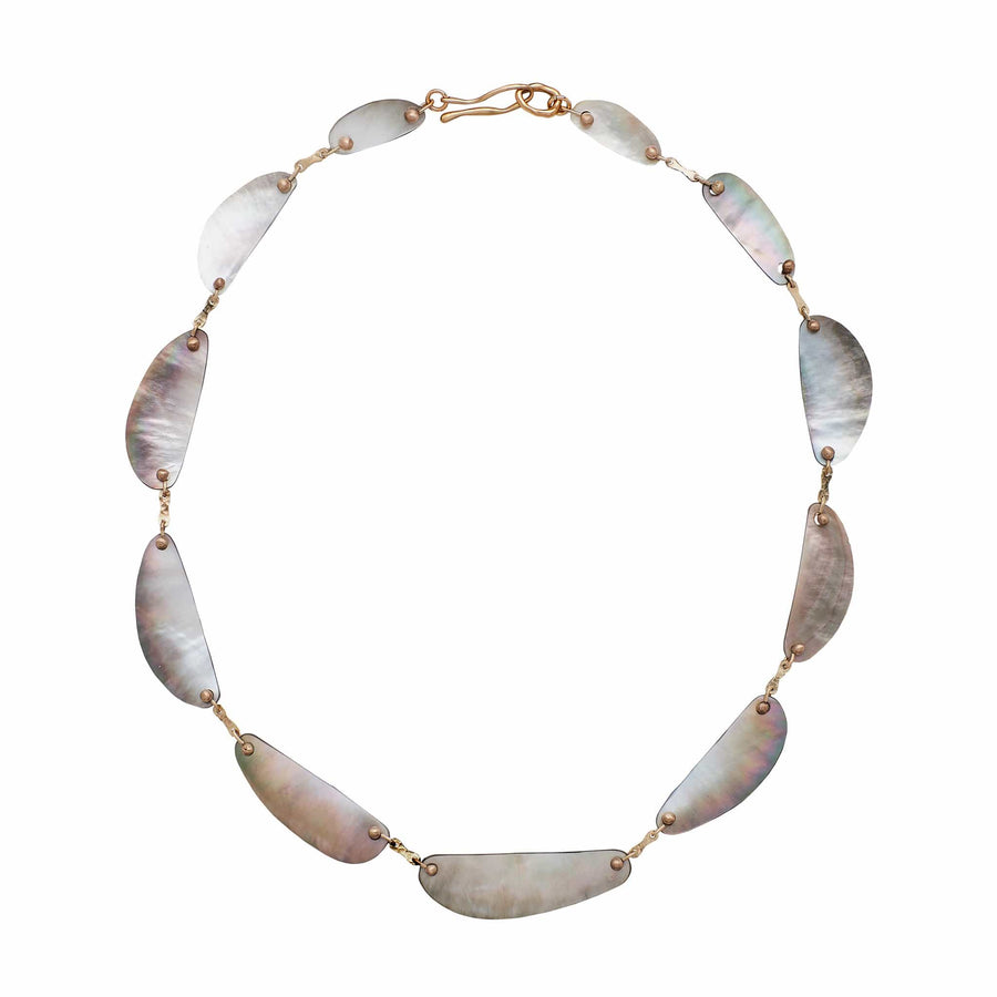 Julie Cohn Design Abalone Bronze Collar Necklace