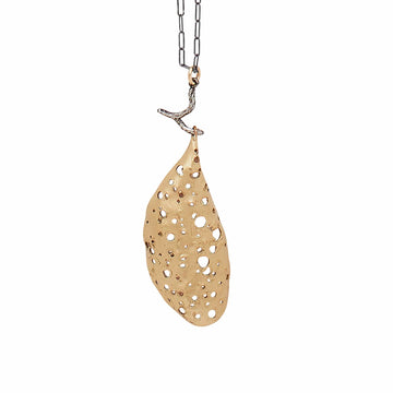Julie Cohn Design Cocoon Bronze Pendant Necklace