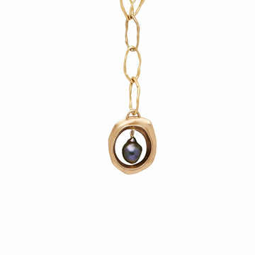 AURA MIDNIGHT GRECO BRONZE PENDANT NECKLACE