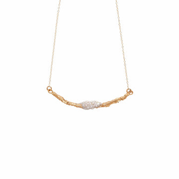 Julie Cohn Design Bronze Snowberry Branch Pendant with Ivory Seed Pearls