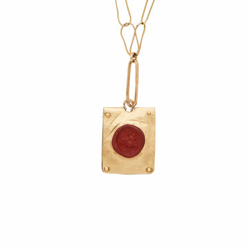 Julie Cohn Design Bee Cameo Bronze Charm Necklace