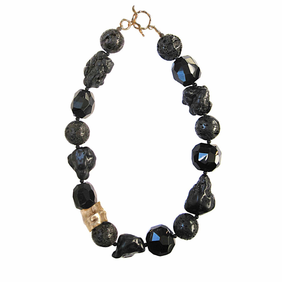 Julie Cohn Design Molten Onyx Bronze Necklace