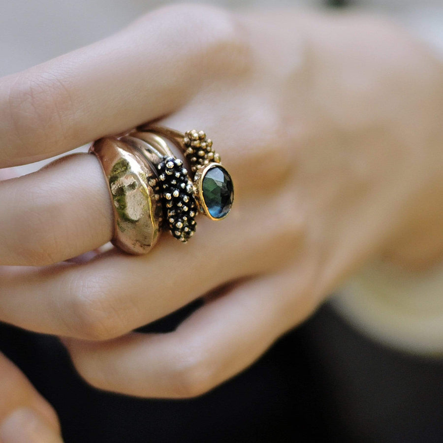 Caviar Bronze Ring