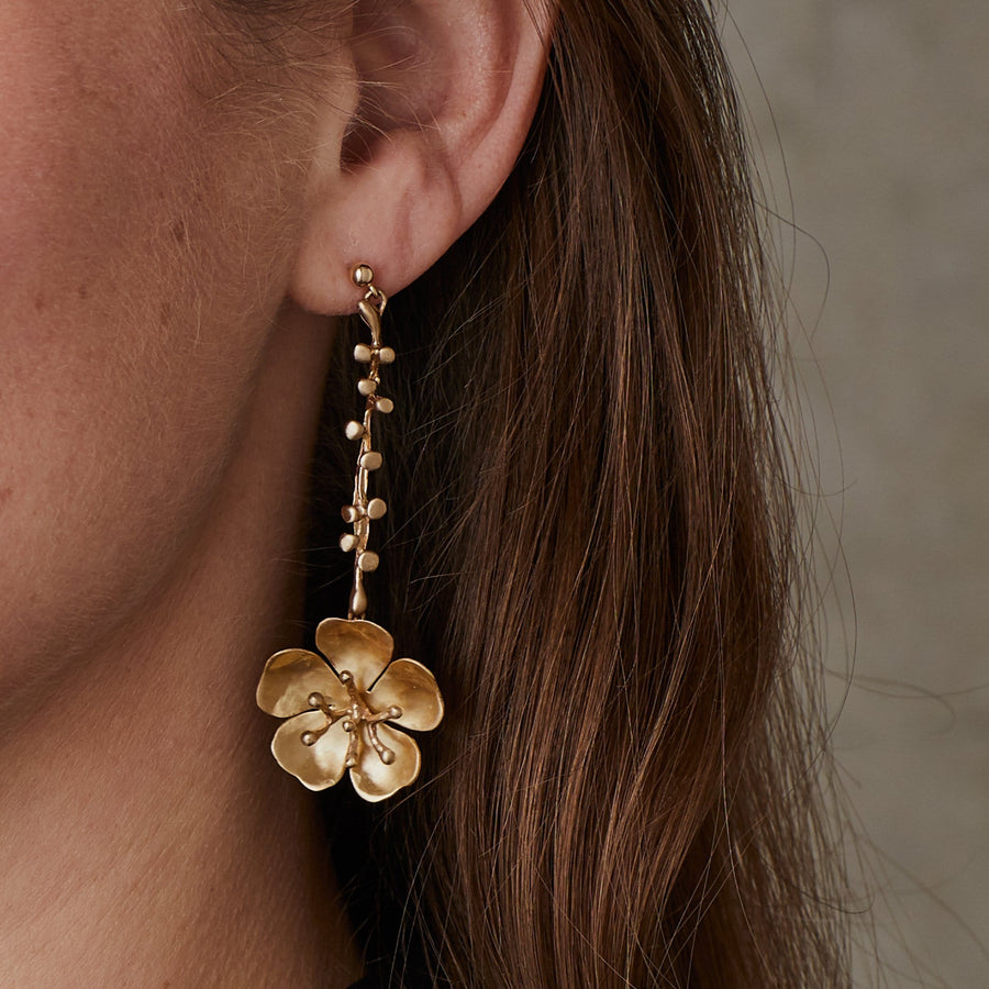 CHERRY BLOSSOM EVE BRONZE EARRING