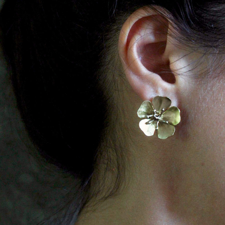 CHERRY BLOSSOM BRONZE EARRING