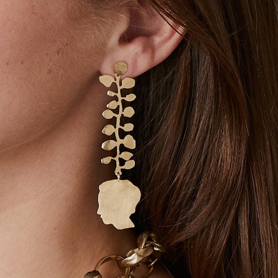 Louise Vine Bronze Earring