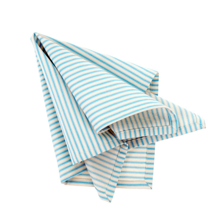 Ticking Napkins S/4 Blue