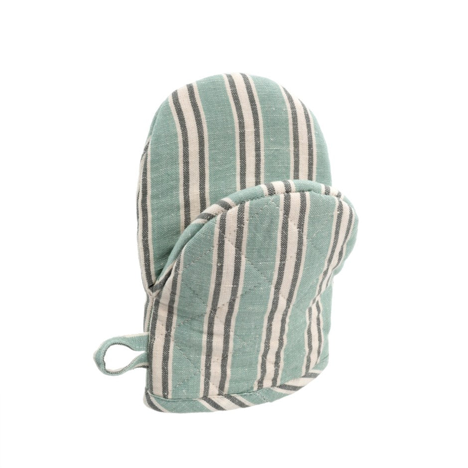 French Linen Oven Mitt, Turquoise