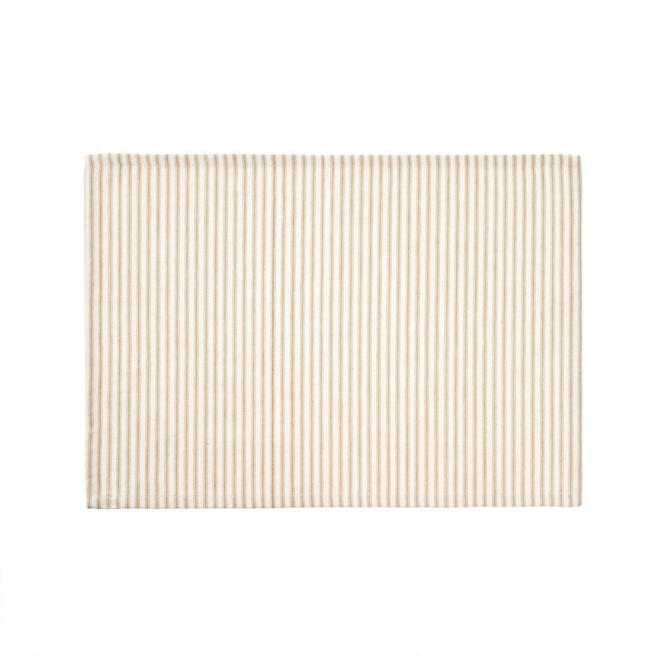 Beige Ticking Placemat