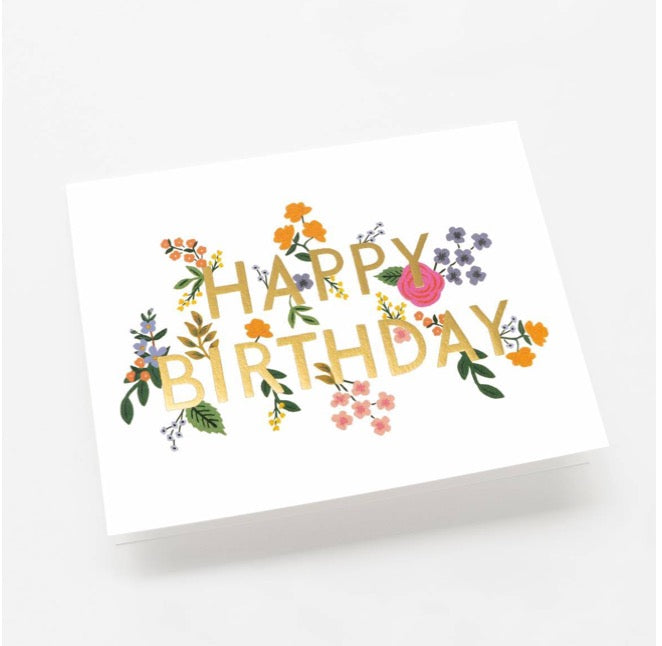 WILD WOOD BIRTHDAY CARD
