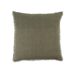 Lina linen Pillow, Laurel