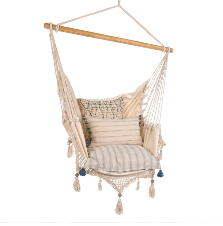 Crocheted Hammock Chair (no pillows included)