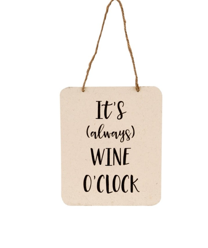 Wine o'clock sign