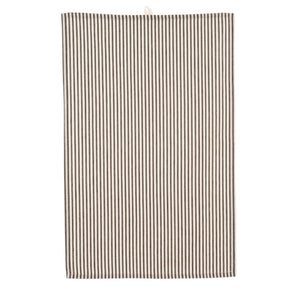 Ticking Tea Towel, Black x4