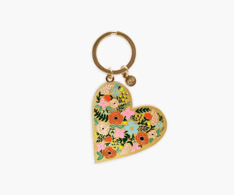Floral Heart Key Chain