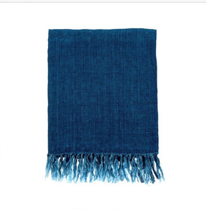 Lina Linen Throw,Cobalt