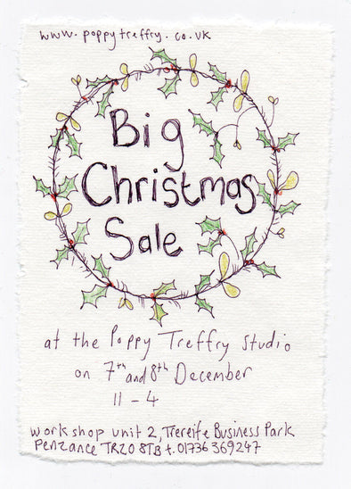 Big Christmas Sale at the Poppy Treffry Studio!