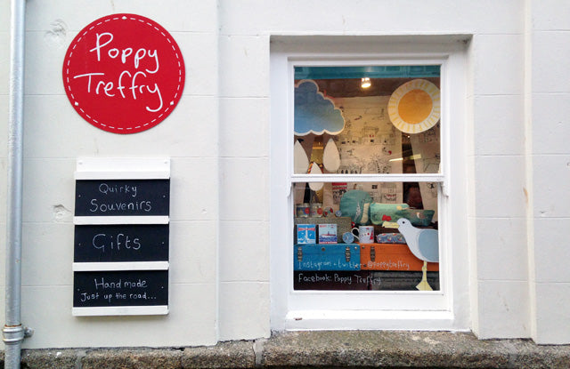 Poppy Treffry shop in st ives