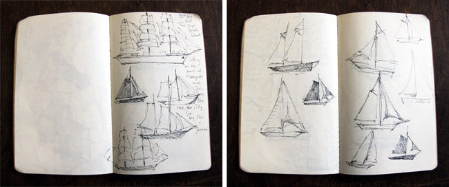 Breezy boat sketches